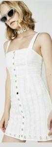 FOR LOVE & LEMONS WHITE HERMOSA EYELET SNAP DRESS